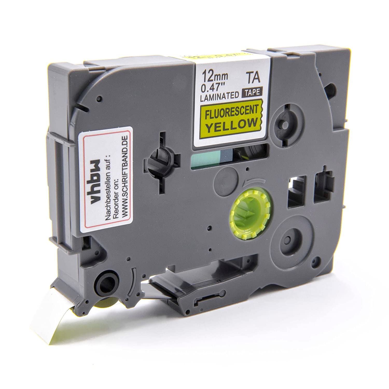 Ruban Cassette Cartouche vhbw 12mm Jaune pour Brother P-Touch 1180HK, 1190, 1200, 1200S, 1230PC, 1250, 1250CC comme TZ-C31, TZE-C31 VHBW4251004644608