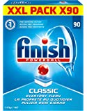 Finish Pack de 90 Lave Vaisselles Tablettes Classic Power Ball