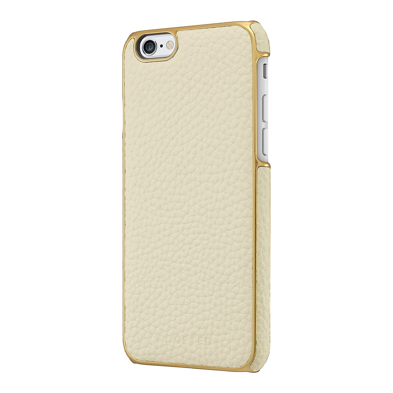 best service cc728 03947 Adopted Leather Wrap Case for Apple iPhone 6/6s, White/Gold
