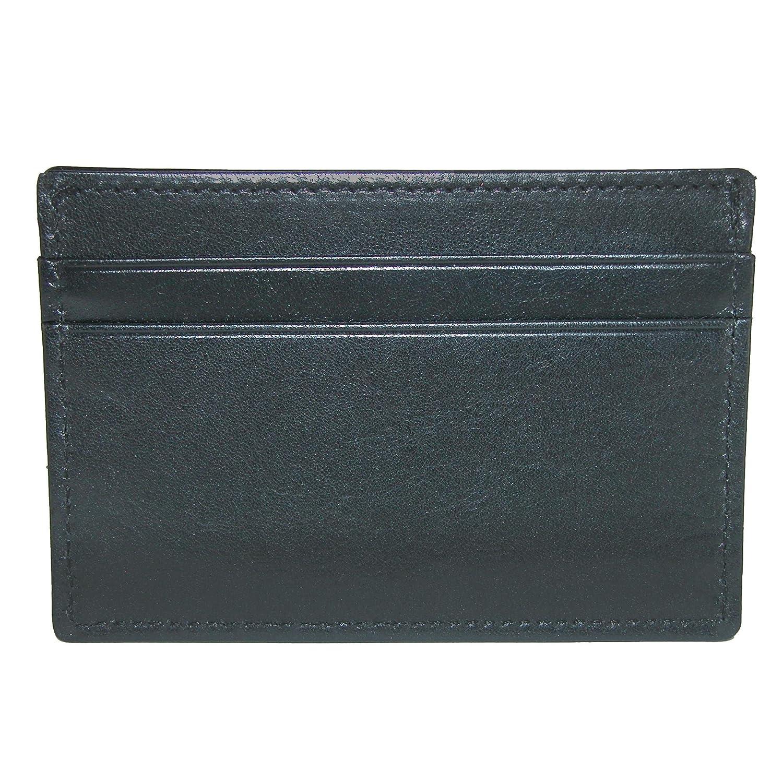 CrookhornDavis Mens Italian Vachetta Calfskin Leather Card Case