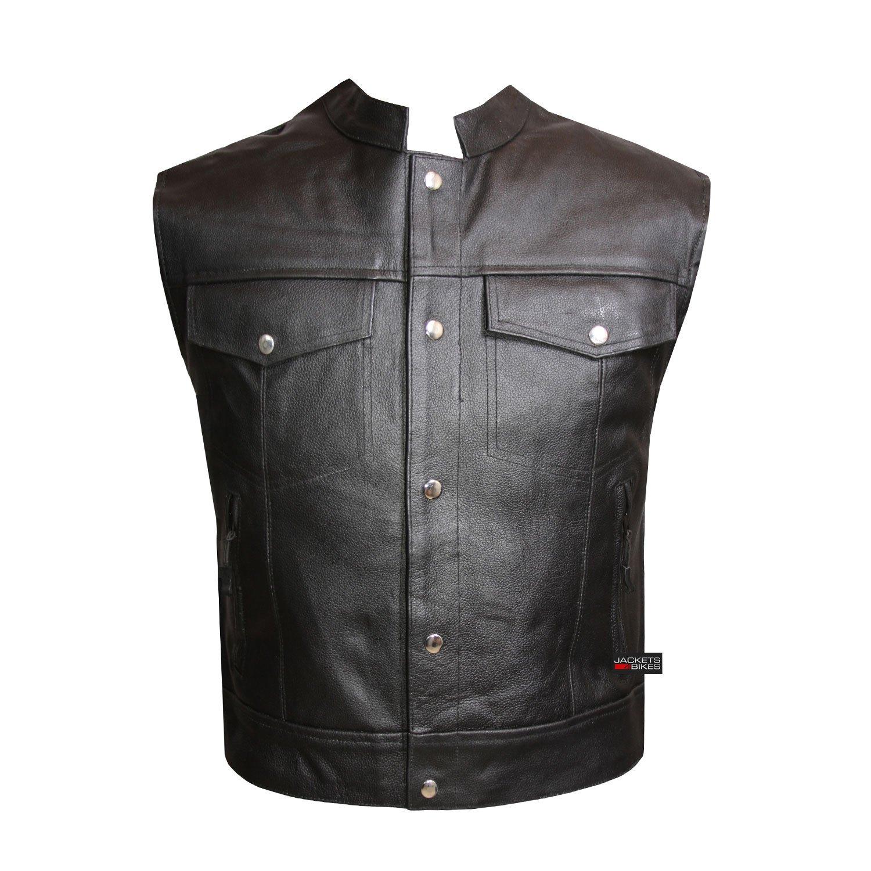 Motorcycle Sons of Anarchy Biker Five Pockets SOA Vest Inside Gun Pocket M