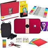 KODAK Smile Instant Print Digital Camera (Red) Scrapbook Kit with Soft Case