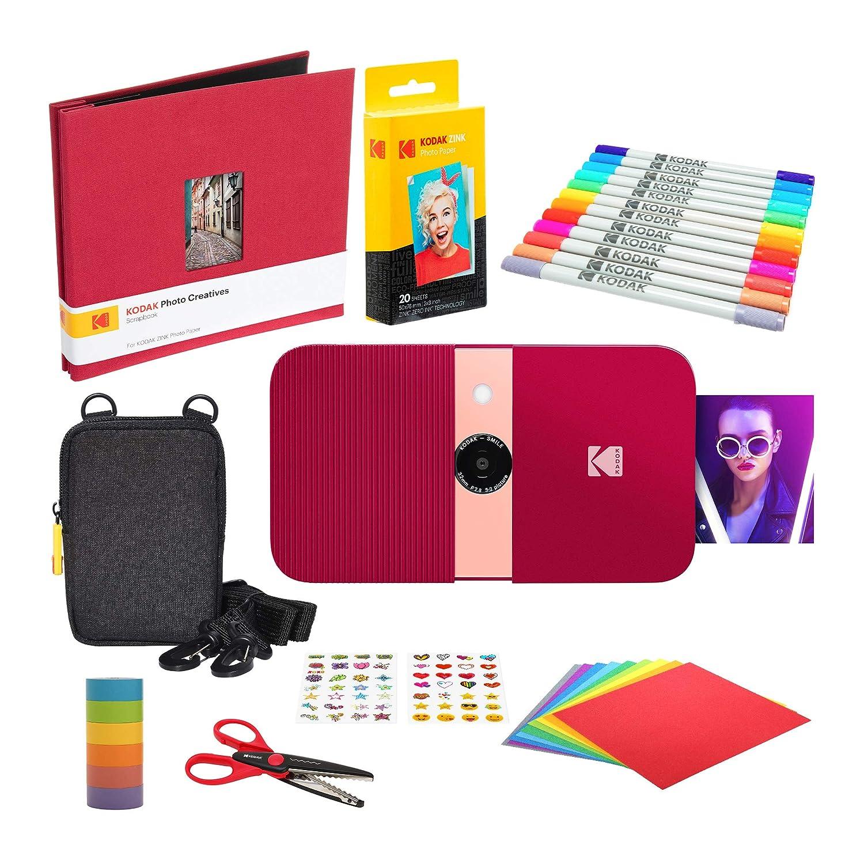KODAK Smile Impresora Digital instantánea (Rojo) Kit de Bloc ...