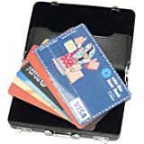 RiaTech Widely Use Briefcase Style Credit / Debit / Visiting Business Card Case - Black