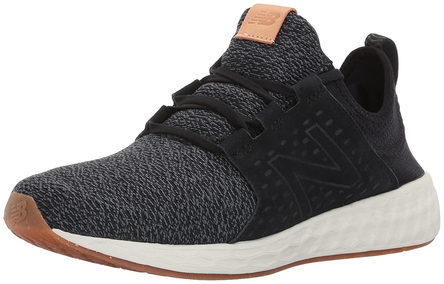 New Balance Men's Fresh Foam Cruz Running Shoe B01M0OOX1P 8 D(M) US|Black/Sea Salt