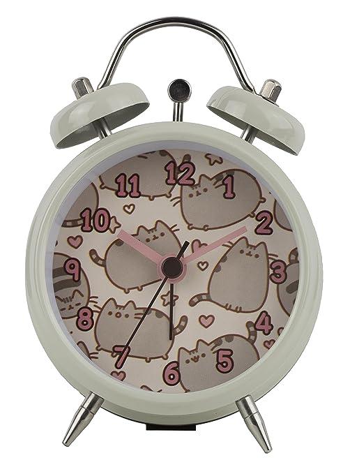 Pusheen Mini Twin Bell Reloj, Crema