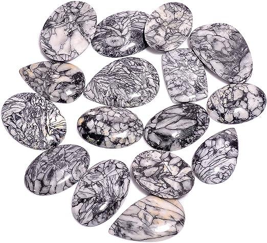 Polygram Jasper Gemstone Cabochon  Natural Osolite Gemstone Flat Back Gemstone Jewelry Making Cabochon Supply 22 x 54 x 5 mm #1976 Christmas