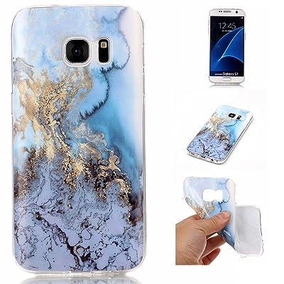 Cozy Hut Coque Samsung Galaxy S7 Marbre, Coque Silicone Motif Marbre, Housse Etui de Protection en TPU Souple Lustré pour Samsung Galaxy S7 High-tech