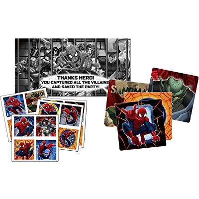 Spiderman Spider Hero Scavenger Hunt Birthday Party Game by KidsPartyWorld.com: Toys & Games