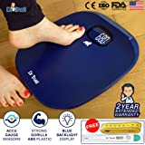 Dr Trust ABS Absolute Blue Personal Digital Scale Weighing Machine for Body Weight with Digital Thermometer and Measuring Tape