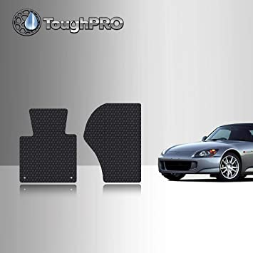 Amazon Com Toughpro Floor Mat Accessories Front Row Set Compatible With Honda S2000 All Weather Heavy Duty Made In Usa Black Rubber 2000 2001 2002 2003 2004 2005 2006 2007 2008 2009 Automotive