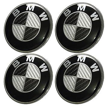 4 tapacubos de aleación de aluminio, con el logo de BMW, de 68 mm