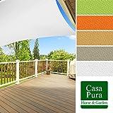 Voile d'ombrage casa pura® en coloris divers   matière imperméable - lavable en machine   taille 3x5m   densité 160g par m²   gris
