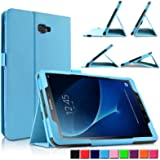 Samsung Galaxy Tab A 10.1 Case Cover, Infiland Folio PU Leather Stand Case Cover for Samsung Galaxy Tab A 10.1 inch (2016) SM-T580N/ SM-T585N Tablet-PC (with Auto Wake/Sleep Feature)(Blue)