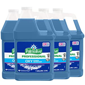 PALMOLIVE OXY Power Degreaser for Pots and Pans, Concentrated Formula, Dishwashing Liquid, Dish Soap, Dish Liquid Soap, Phosphate Free, Dishwasher Cleaner, 1 Gallon Bottle (Pack of 4) (240043)