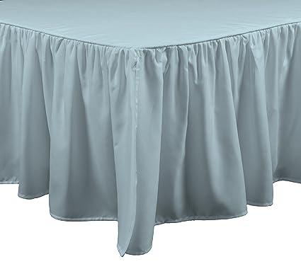 Light Blue Bed Skirt.Brielle Essentials Bedskirt King Light Blue Seafoam