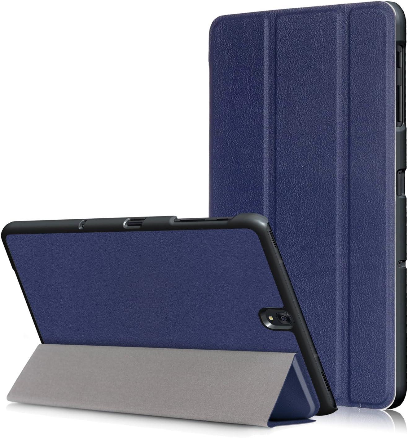 Awenroy Funda para Samsung Galaxy Tab S3 9.7 Inch Tablet (SM-T820/T825) Durable Ultra Slim Ligero Función de Soporte Protectora Plegable Smart Cover con Auto Reposo/Activación - Azul Marino