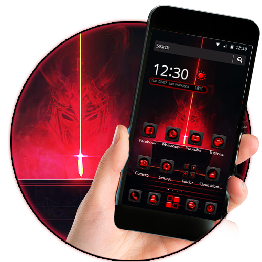 Red Devil 2D android Theme (Micromax Mobile)