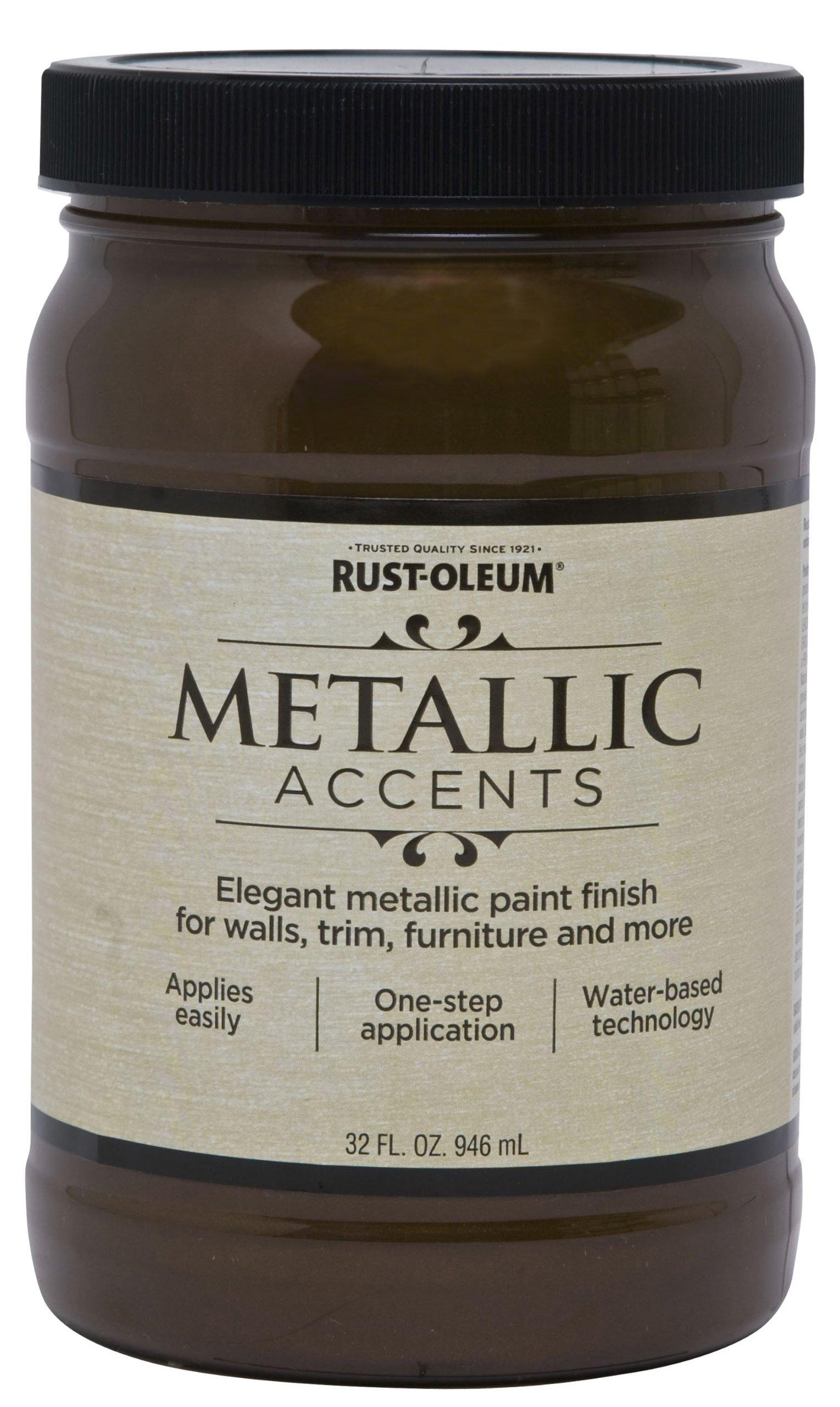 Rust-Oleum 253535 Metallic Accents Paint, Quart, Classic Bronze