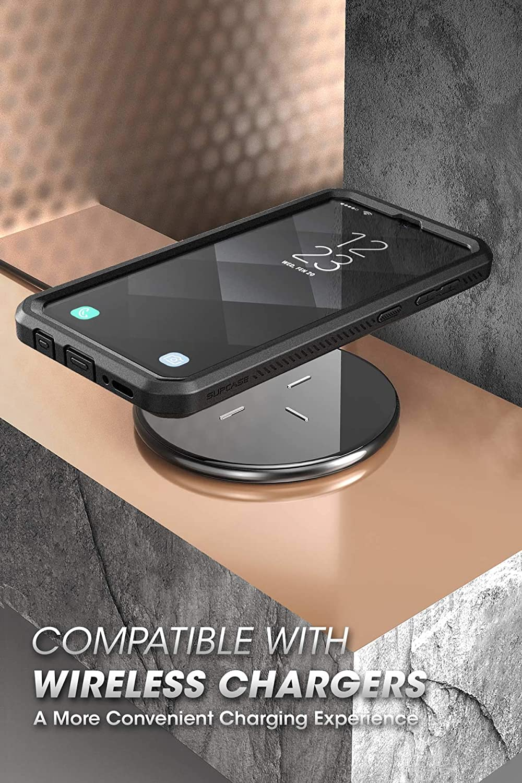 SupCase Funda Galaxy A50 Unicorn Beetle Pro Serie Negro 360 Carcasa Completa Resistente Case con Clip de Cinturon y Protector de Pantalla Incorporado