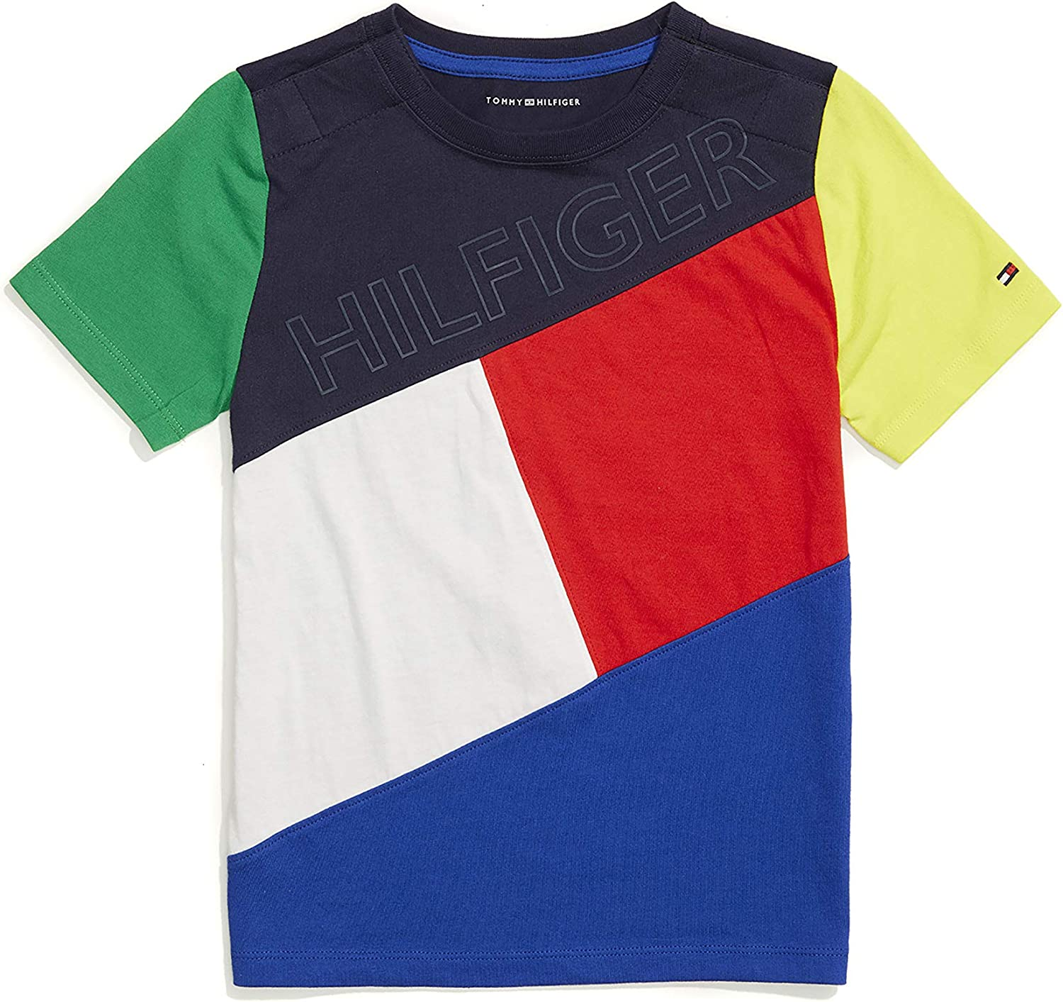 Tommy Hilfiger Boys Adaptive T Shirt With Velcro Brand Closure at Shoulders