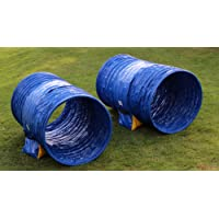 Callieway/ Hoopers Agility Tunnel Set with 2x1m Tunnels each 1.5m length/ 80cm diameter (Pack of 2) for Hoopers & Jud Sport & Agility