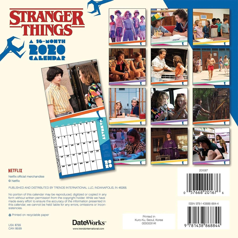 Stranger Things Calendario 2020 Set – Deluxe 2020 Stranger Things Mini Calendario con más de 100 pegatinas de calendario (cosas más raras regalos, suministros de oficina): Amazon.es: Oficina y papelería