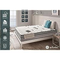 NATURALEX Matelas Visco Carbone à mémoire de Forme Bio Memory® - Viscotex® - Confort Tonique – 7 Zones – 25 cm
