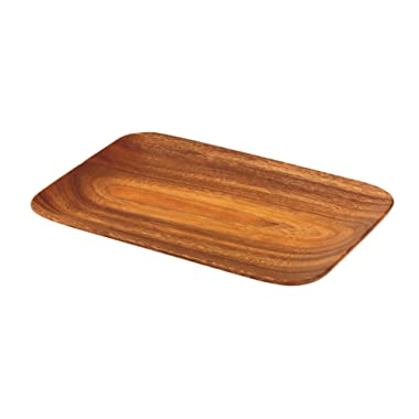 Pacific Merchants K0059 Acaciaware 10.5-by 7.25-by .75-Inch Acacia Wood Rectangle Serving Tray
