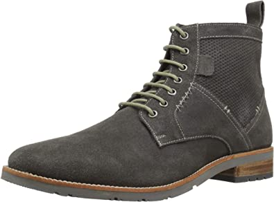 Ben Sherman Rugged Suede Mens Gray Suede Casual Dress Oxfords Shoes