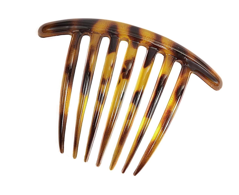 Caravan Contemporary Seven Tooth French Twist Comb with Wavy Teeth In Tokyo Color 2086