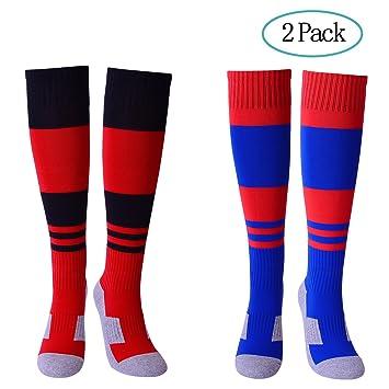 Diealles Calcetines de Fútbol Infantil, 2 Pair Calcetines de Compresión de Alta Calidad para Niños