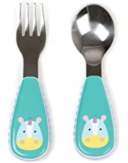 Skip Hop Toddler Utensils, Fork and Spoon Set, Unicorn