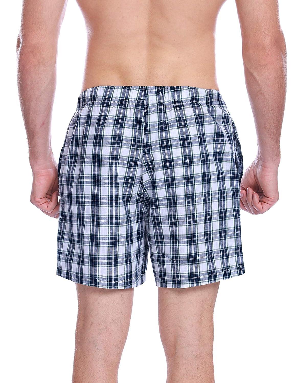 Aibrou Pantaloncini Uomo Pantaloni Casual da Uomo Pantaloni da Uomo di Pijama Pantaloncini da Jogging Bermuda Pantaloni da Pigiama di Cotone