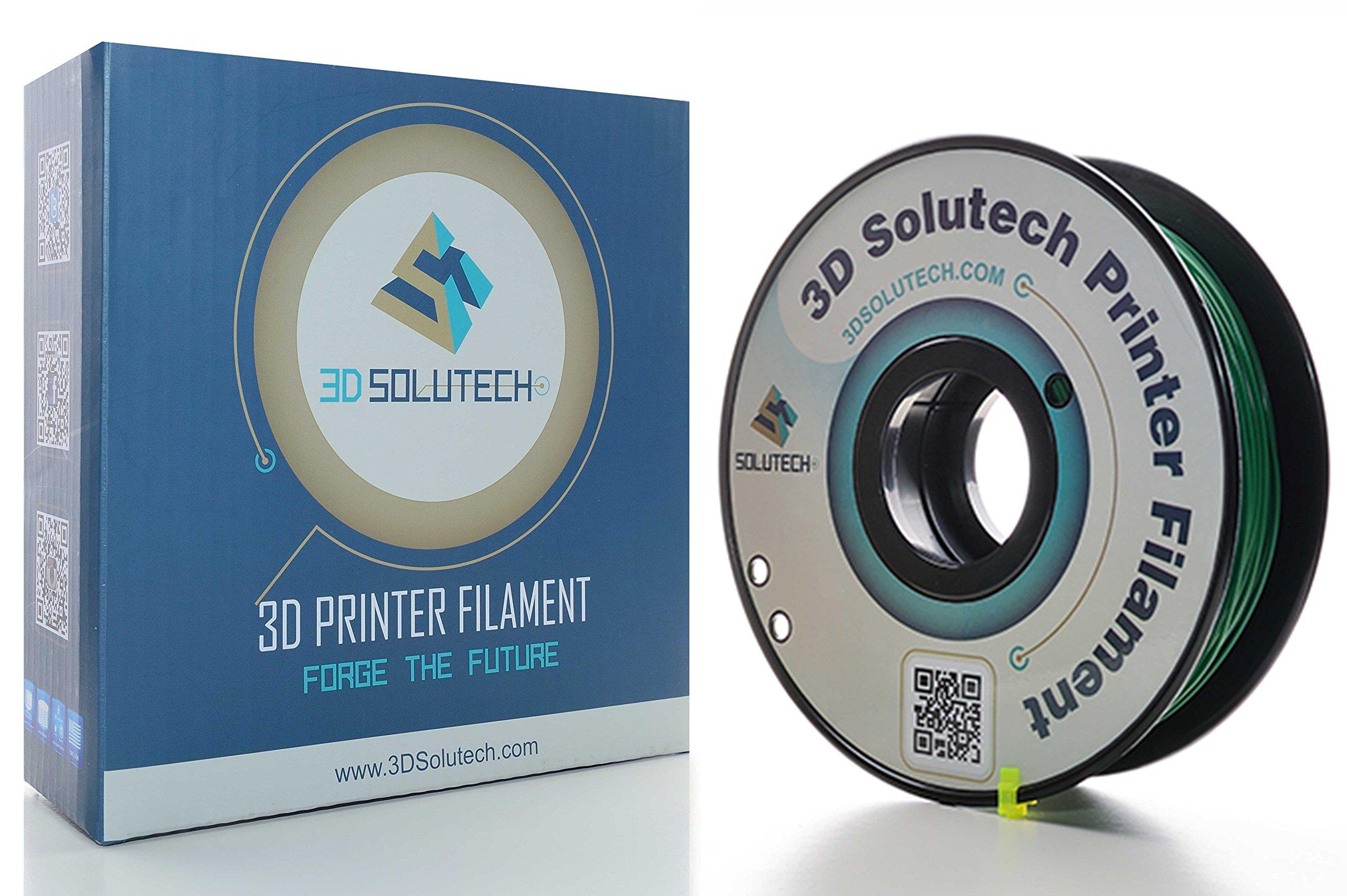 3D Solutech Real Green 3D Printer PLA Filament 1.75MM Filament, Dimensional Accuracy +/- 0.03 mm, 2.2 LBS (1.0KG) - 100% USA
