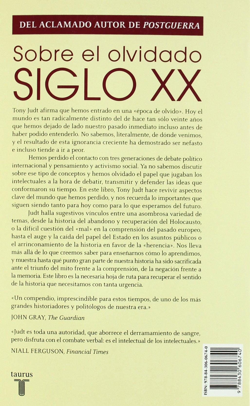 Sobre el olvidado siglo XX (Pensamiento): Amazon.es: Judt ...