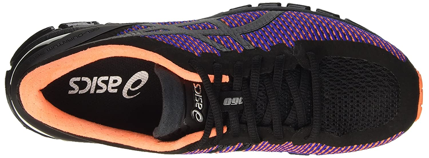 ASICS Herren Gel-Quantum 360 cm Turnschuhe Schwarz (Black/Onyx/Hot Orange)