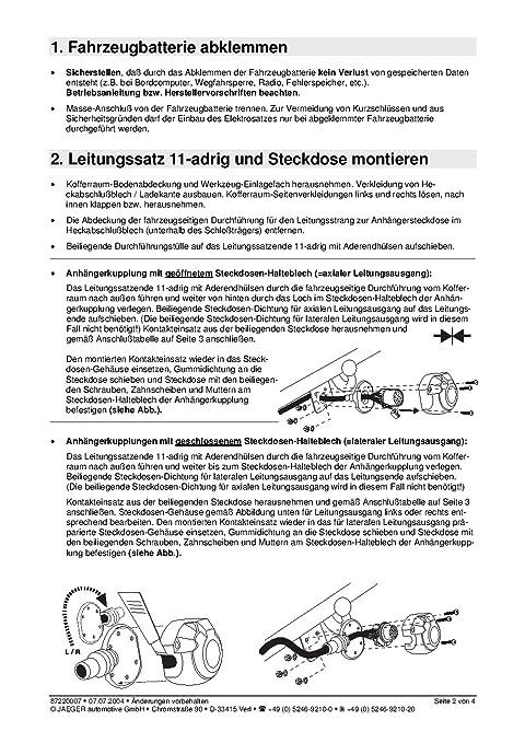 Für Skoda Octavia III Kombi Anhängerkupplung abnehmbar+ES 7p ABE