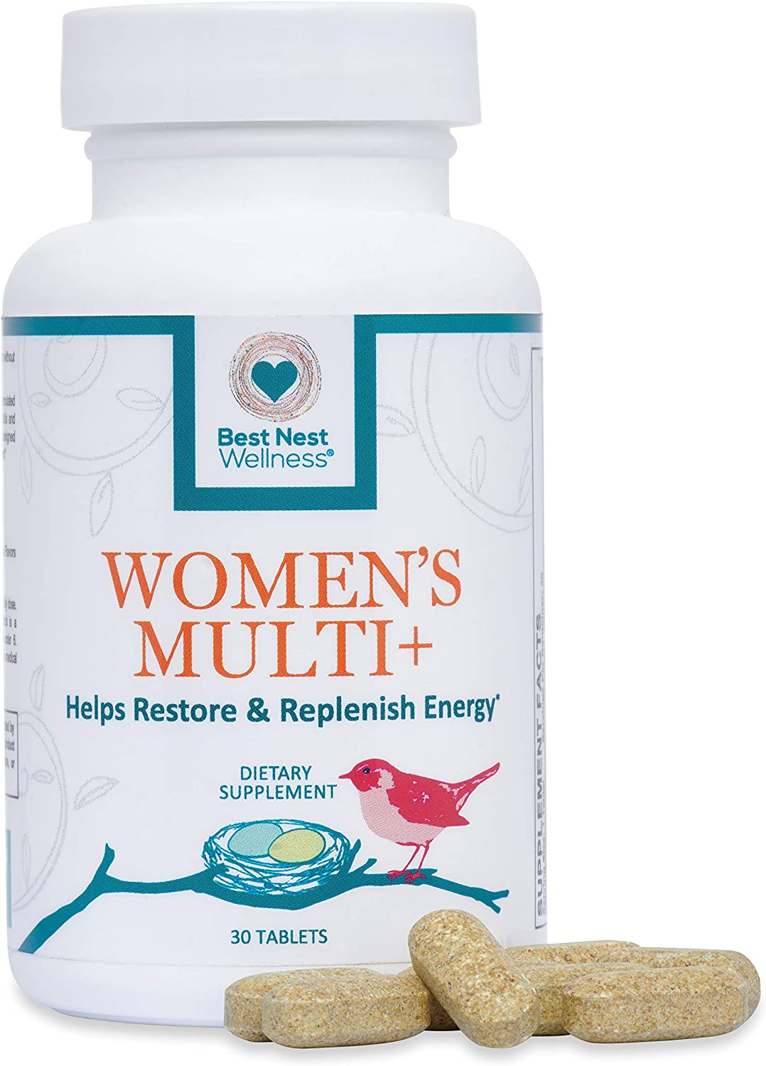 Best Nest Women s Multi , Methylfolate, Methylcobalamin B12 , Vegan, Multivitamins, Probiotics, Made with 100 Natural Whole Food Organic Blend, Once Daily Multivitamin Supplement, 30 Ct