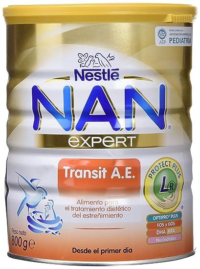 NAN Transit A.E. - Alimento en polvo para lactantes con estreñimiento - Fórmula para bebé -