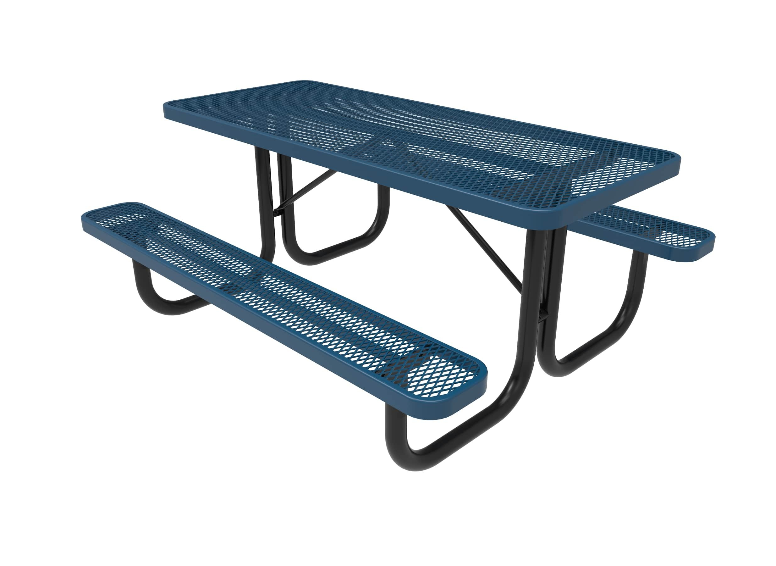Coated Outdoor Furniture T6-LBL Rectangular Portable Picnic Table, 6 Feet, Light Blue by CoatedOutdoorFurniture