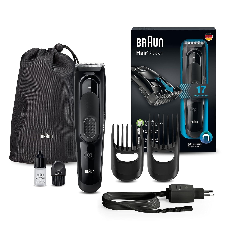 Braun HC 5030 - Máquina de cortar pelo profesional, cortapelos con 17 longitudes, color azul Procter & Gamble