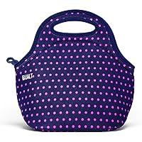 BUILT LB31-MNV Gourmet Getaway Soft Neoprene Lunch Tote Bag-Lightweight, Insulated and Reusable, Mini Dot Navy