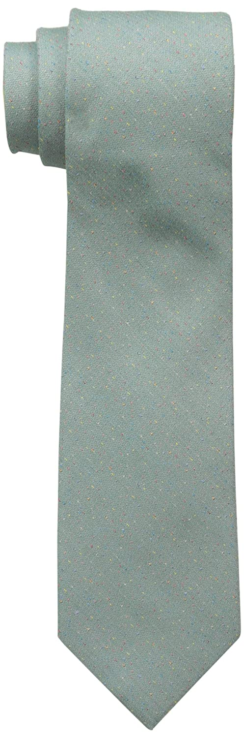 Ben Sherman Men's Solid Donegal Skinny Tie Green One Size Randa Neckwear SH24110020