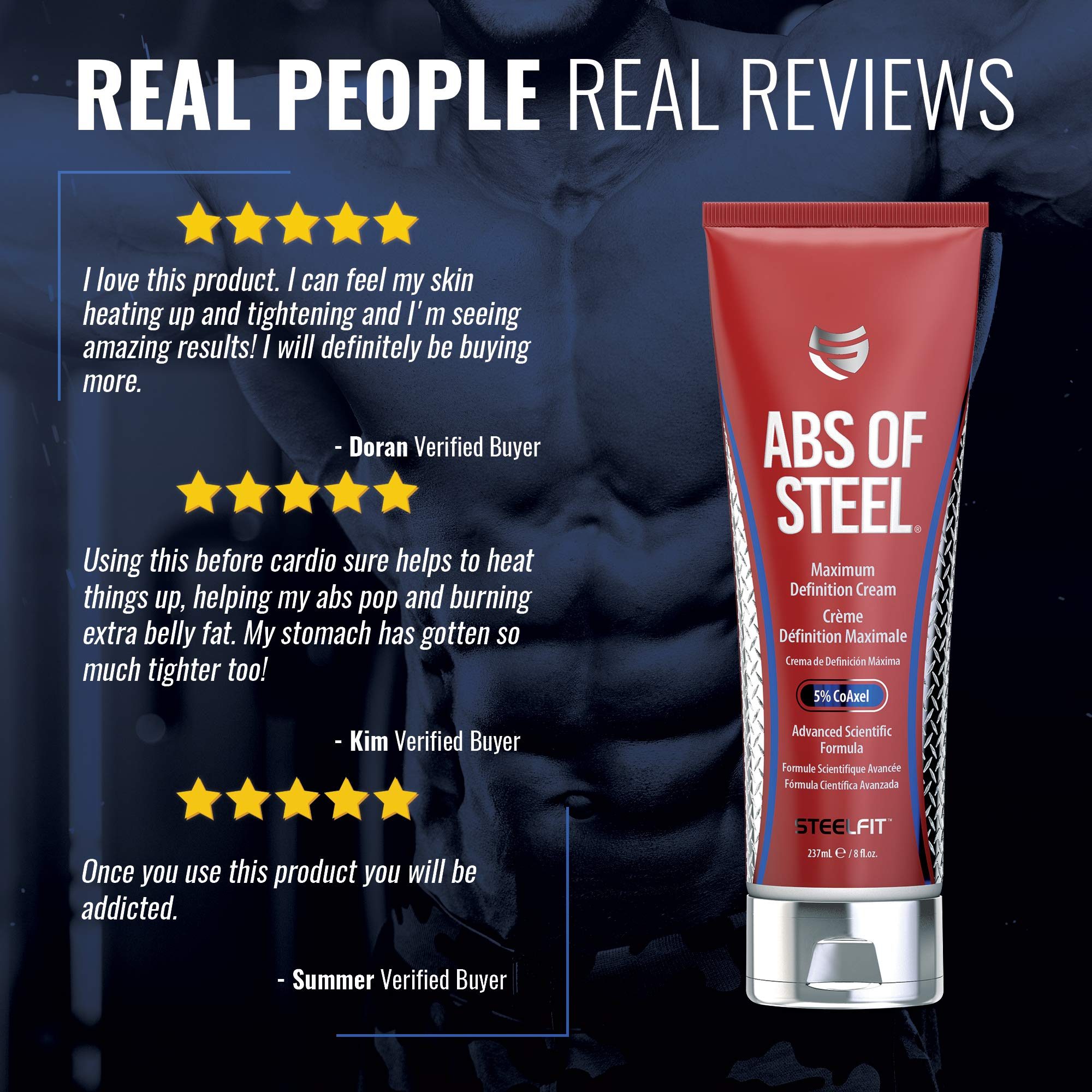 SteelFit Abs of Steel Maximum Definition Cream with 5% Coaxel, 8 fl oz (237ml). by SteelFit (Image #4)