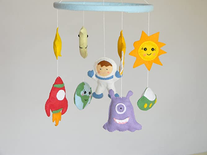 d00834c14d111 Amazon.com: Planets Mobile Baby Crib Mobile Solar Systems mobile ...