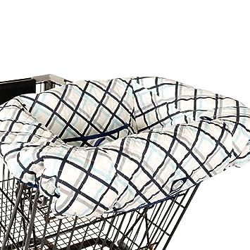 Balboa Baby Shopping Cart & High Chair Cover - Navy Plaid