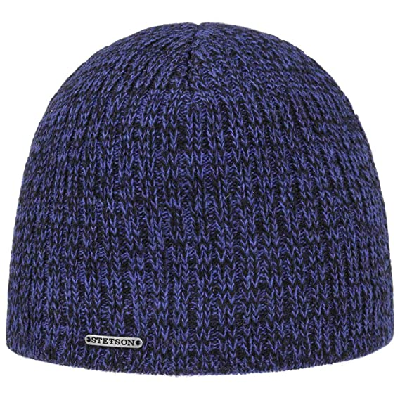 a95fc045a6b Stetson Darco Wool Beanie Hat Winter Knit (One Size - Blue)  Amazon ...