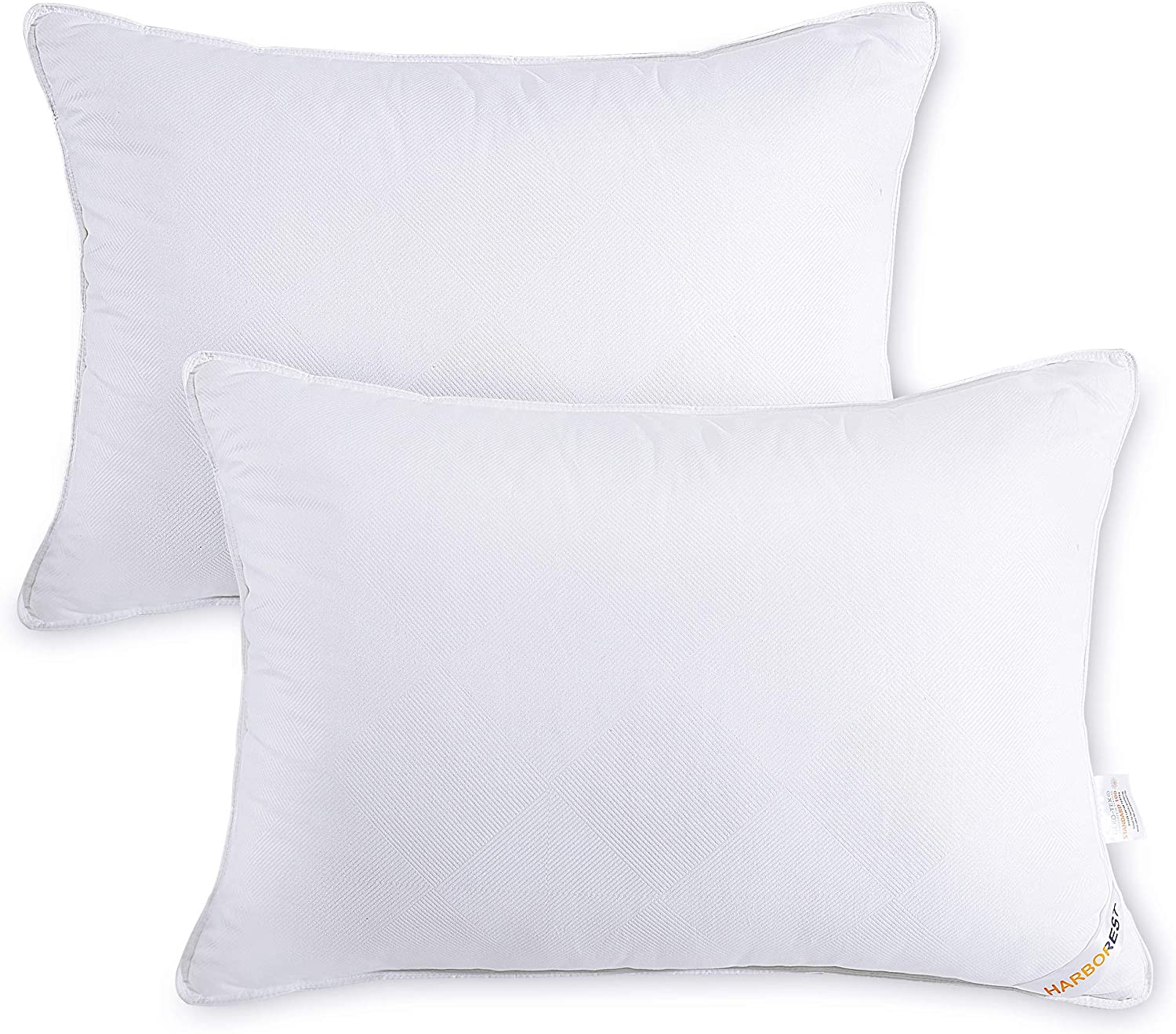 HARBOREST Bed Pillows for Sleeping (2 Pack) - Luxury Plush Down Alternative Pillows Good for Side and Back Sleeper Hotel Pillows, Standard/Queen 20 x 26 Inches