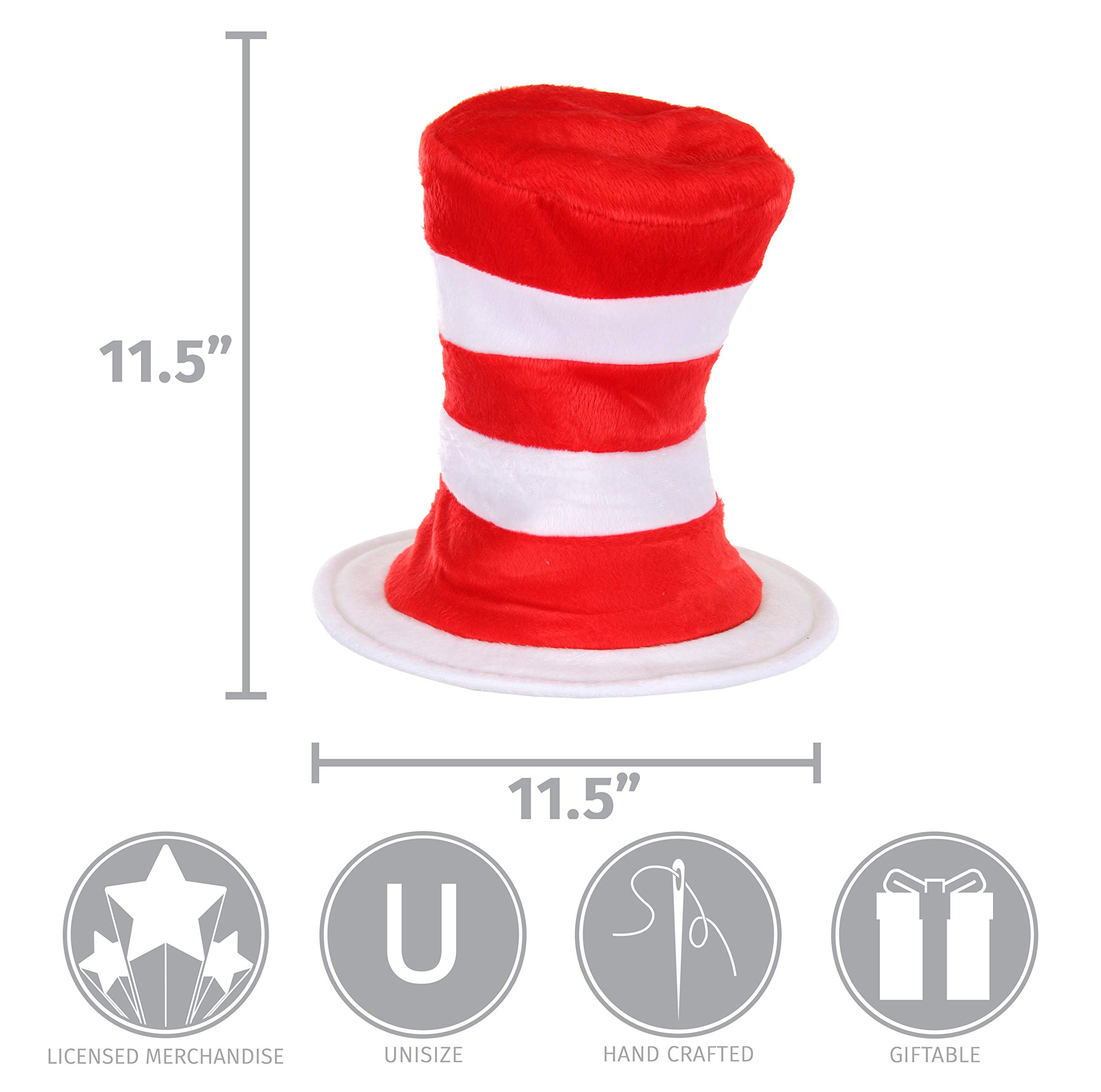 elope Dr. Seuss Cat in the Hat Deluxe Velboa Hat by elope (Image #6)
